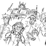 Gus thumbnail laying out the characters.