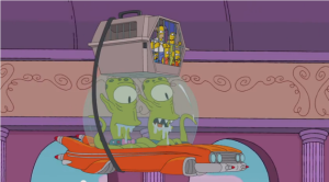 simpsons in space
