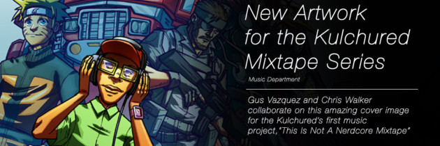 Comic Artists Gus Vazquez and Chris Walker Rock the Kulchured Mixtape Cover